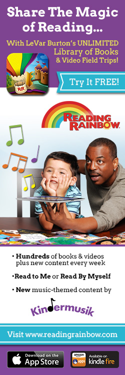 Reading Rainbow App now features Kindermusik, with Music Mountain!