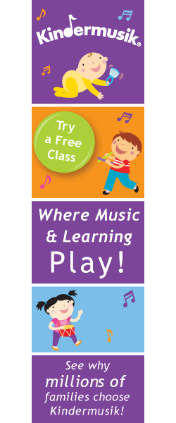 Try a Free Kindermusik Class! Early childhood development through music and movement.